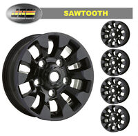 """7""""x16"""" Land Rover Defender Black SAWTOOTH Style Alloy Wheels Set of 5"""