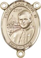 14KT Gold Filled Saint John Paul II Rosary Centerpiece Medal, 3/4 Inch