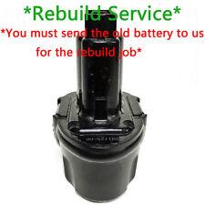Battery Rebuild Service For DEWALT 7.2V DW9057 3.0Ah 3000mah NiMH