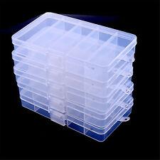 New 5pcs Multifunction Fishing Lure Bait Tackle Waterproof Storage Box Case Set
