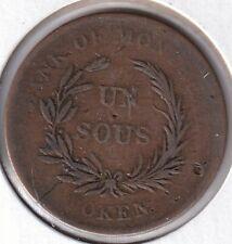 Monix Lower Canada LC-3A1 colonial token un sous bouquet BR714 F-VF CV$8