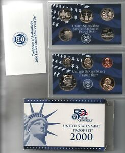 2000 usa proof coin set 10 coins