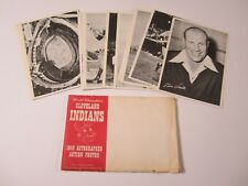 Cleveland Indians 1949 Photo pack w/original envelope Feller Boudreau and others