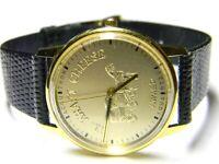 mens Bulova Accutron JL Kraft Cheese Award gold plated Advertising dress watch