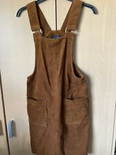New Look Brown Cordroy Dress Dungaree  Size 6