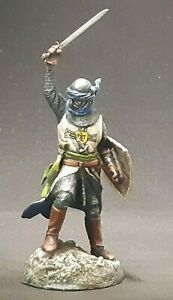 Knight tin toy soldier 54 mm  1/32 HAND-PAINTED