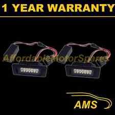 2X FOR VW PASSAT 2008-09 ALUMINIUM UPGRADE 18 WHITE LED NUMBER PLATE LAMPS