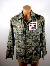 NWT PROPER US ARMY DIGITAL GREEN BROWN CAMOUFLAGE FULL ZIP JACKET SIZE 36 R