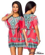 Mehrfarbige Damenblusen,-Tops & -Shirts im Tuniken-Stil mit Kurzarm-Ärmelart ohne Mehrstückpackung