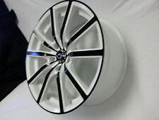 "18"" 4 New # 5363 White Black face Diamond Edition wheels Rims 5X112 38 offset"