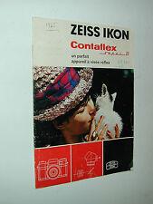 ZEISS IKON présentation CONTAFLEX super B photo photographie en allemand