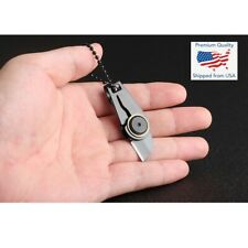 Mini Zipper Knife Folding Tool Portable Outdoor Keychain Compact Pocket Small