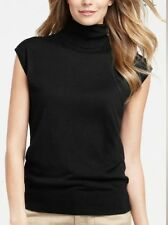 NEW!! NWT $68 Ann Taylor Turtleneck Black sleeveless Sweater Sz S
