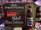 RARE PABST BLUE RIBBON BEER WOODEN BAR SIGN