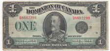 1923 Dominion of Canada $1 Black Seal Group 3 - Sale