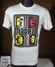 Vintage Screen Stars Madrid Spain Abstract Art Shirt Large