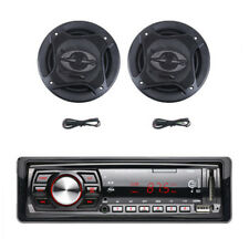 "1Din Car Stereo Audio MP3 Player With Remote Control&6.5""400W 90dB Car Subwoofer"