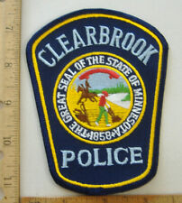CLEARBROOK MINNESOTA  POLICE  FABRIC PATCH