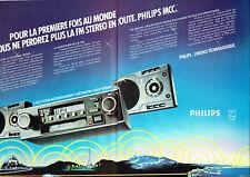 Publicité Advertising 028  1980   Philips (2p)  auto-radio stéréo FM  MCC