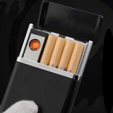 Black Dual Arc USB Electric Rechargeable Flameless Lighter Cigar Cigarette Box