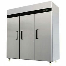 MBF8003 - T Series   3 Three Door Commercial Stainless Steel Freezer 1.25HP Comp