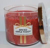NEW BATH & BODY WORKS SPICED APPLE TODDY SCENTED CANDLE 3 WICK 14.5OZ LARGE RED