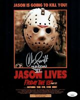 CHRISTOPHER SWIFT Signed 8x10 JASON VOORHEES Friday The 13th VI Photo JSA COA