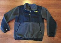The North Face Boy's T201 Black Gray Denali Fleece Jacket Size Large 14-16