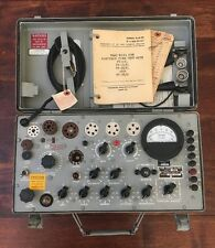 Vintage Military TV-7D/U Vintage Tube Tester. Functioning