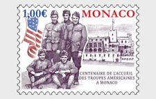 monaco 2019  convalescent American Soldiers world war ww1 uniform flag 1v mnh **