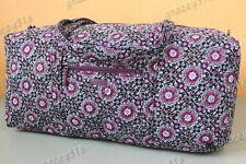 Vera Bradley XL Duffel Travel Gym Bag Lilac Medallion