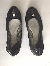 TAHARI GIBSON Ballet Black Patent Leather Flats Sz 6.5