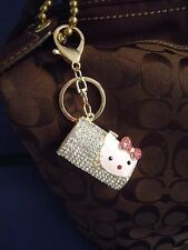FABULOUS HELLO KITTY Rhinestone & Metal Alloy PURSE CHARM / KEY CHAIN GREAT GIFT