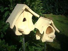 Futterhaus,Nistkasten,Vogelhaus-Set zum selbst bemalen