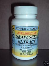 Grape seed extract, antiaging, blood, antioxidant. Made in USA ~ 30 capsules