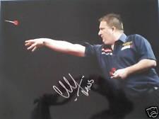 Colin Lloyd Signed Darts Photo 16x12 COA Jaws AFTAL