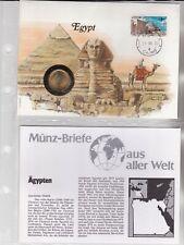 Numisbriefe aus aller Welt - Ägypten und Infokarte