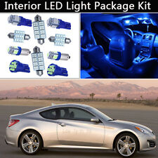 8PCS Blue LED Interior Lights Package kit Fit & Up Hyundai Genesis Coupe J1