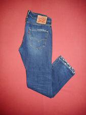 Levi Strauss 501 - W32 L32 - Leather Patch - Mens Blue Denim Jeans - B268/