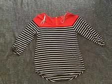 Top Red With Black And White Stripes Under Red Top Piece Fun Size L Guess