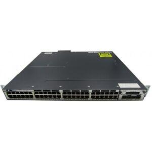Cisco WS-C3750X-48P V01 48 Port Gigabit Ethernet Switch with C3KX-NM-10G Module