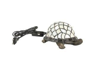 Lamp Lampshade Brass Burnished For Bedroom Glass Tortoiseshell