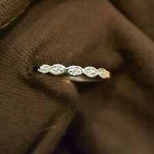 .925 Sterling Silver Ring size 8 CZ Midi Ladies Band Thumb Knuckle Cute New x08