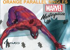 2016 Marvel Masterpieces Legendary Orange Parallel Singles xx/99: YOU CHOOSE