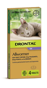 Drontal All-Wormer for Cats & Kittens Up to 4kg - 4 Tablets