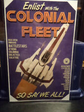 "Battlestar Galactica - Poster ""Enlist in The Colonial Fleet"" Size 17"" x 11"""