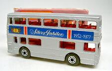 "Matchbox SF Nr.17B The Londoner ""Silver Jubilee I"" unlackierte Bodenplatte"