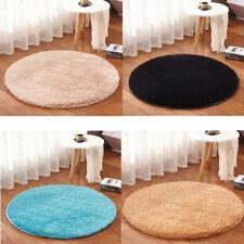 Soft Plush Circle Round Rug Non-Slip Solid Bedroom Mat Washable Floor 60*60cm