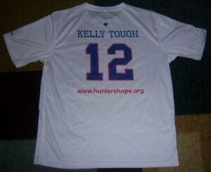 AUTHENTIC Jim KELLY TOUGH 5K Moisture-Wicking TRAINING Shirt/JERSEY L Bills