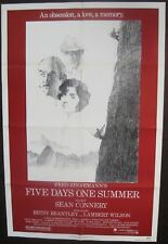 FIVE DAYS ONE SUMMER ORIGINAL MINT 27X41 FOLDED MOVIE POSTER 1982 SEAN CONNERY